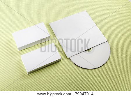Business Cards And Compact Disk