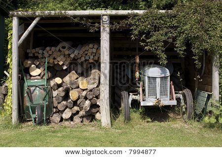 Hut And Tractor