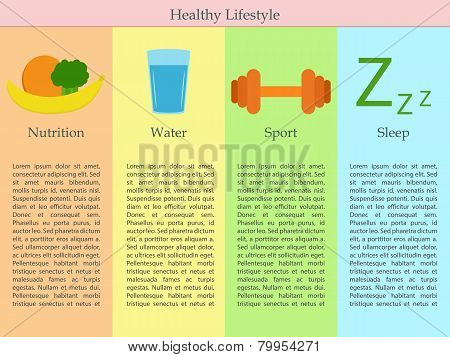 Infographics of healthy lifestyle