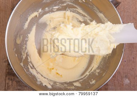 Mixing Butter With Sugar