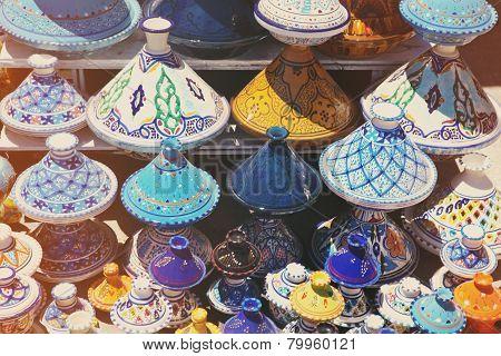 Tajines In The Market