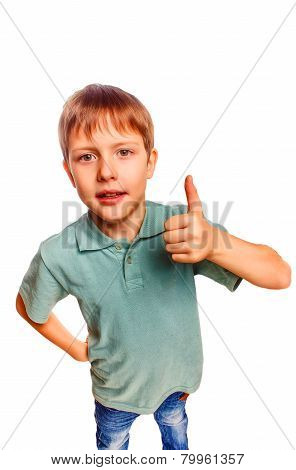 yeah boy gesture isolated white background