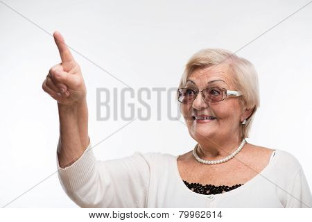 Grandmother posing in sunglasses