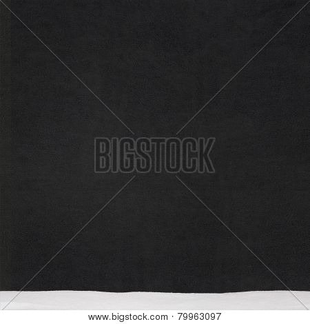 black stucco wall, chalkboard