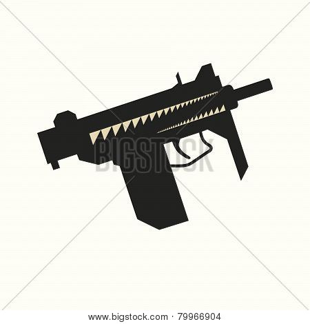 Sub-machine Gun Silhouette