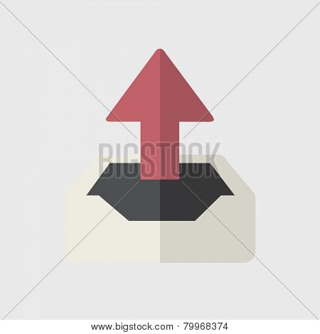 Upload Uploading Sharing Online Internet Icon Vector Concept