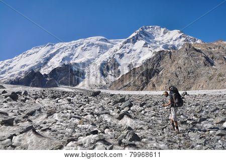 Hiker In Kyrgyzstan
