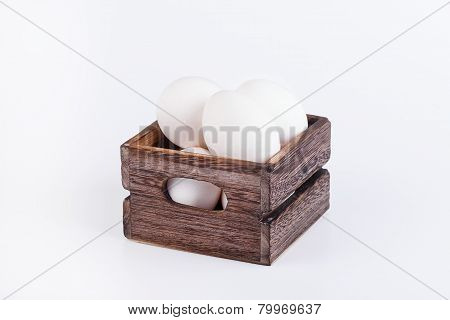 Many eggs in box