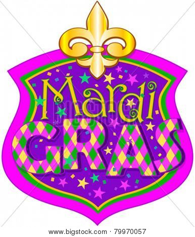 Illustration of Mardi Gras blazon