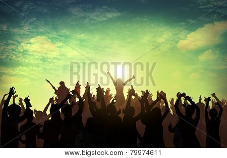 Beach Summer Music Concert Outdoors Recreational Pursuit Concept