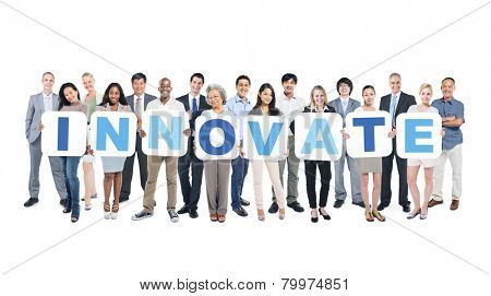 Innovate Business People Team Teamwork Success Strategy Concept