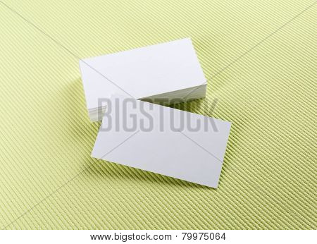 Blank White Business Cards
