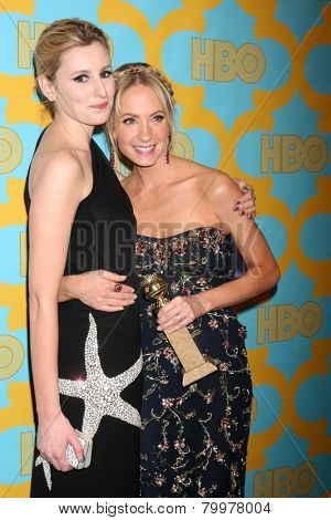 LOS ANGELES - JAN 11:  Laura Carmichael, Joanne Froggatt at the HBO Post Golden Globe Party at a Circa 55, Beverly Hilton Hotel on January 11, 2015 in Beverly Hills, CA