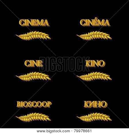 Cinema Laurels In Different Languages 3D 4