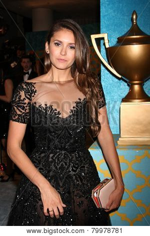 LOS ANGELES - JAN 11:  Nina Dobrev at the HBO Post Golden Globe Party at a Circa 55, Beverly Hilton Hotel on January 11, 2015 in Beverly Hills, CA