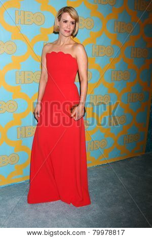 LOS ANGELES - JAN 11:  Sarah Paulson at the HBO Post Golden Globe Party at a Circa 55, Beverly Hilton Hotel on January 11, 2015 in Beverly Hills, CA