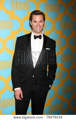 LOS ANGELES - JAN 11:  Andrew Rannells at the HBO Post Golden Globe Party at a Circa 55, Beverly Hilton Hotel on January 11, 2015 in Beverly Hills, CA
