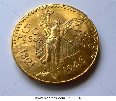 50 pesos gold coin 1821
