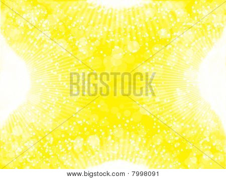 white and yellow abstraction
