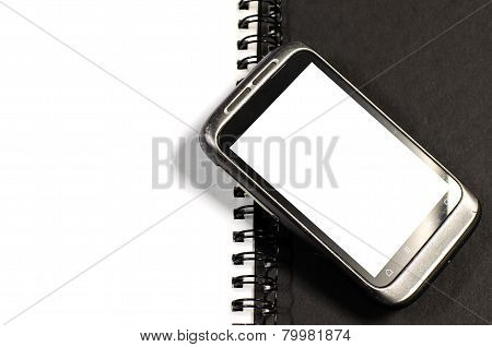 Smartphone On Note Book