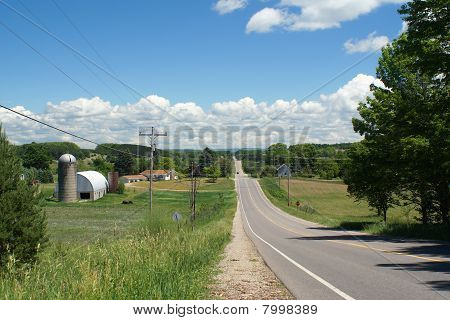 Quiet Road Through Farm Country