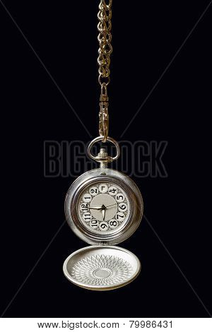 Pocket Watch On A Chain.