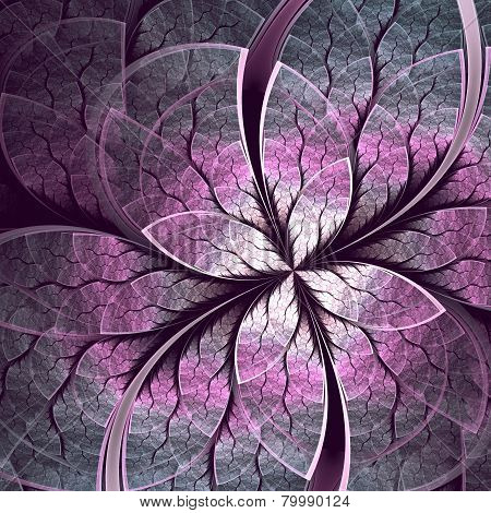 Unusual abstract background with stylized flower jewel