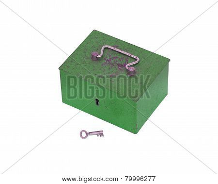 Green Moneybox Isolated
