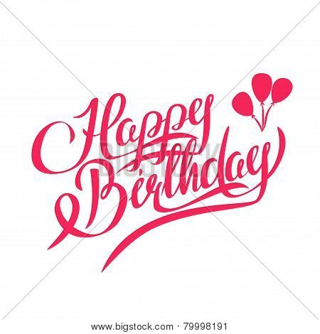 Happy Birthday Vector Lettering - Design Element