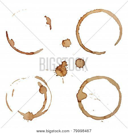 Vector Coffee Stain Rings Set