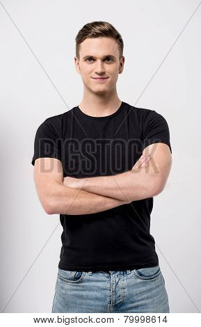 Handsome  Man With Arms Crossed