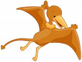 stock photo of pterodactyl  - An Illustration of a Cute Pterodactyl with Clipping Path - JPG