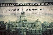 picture of one hundred dollar bill  - In God We Trust motto on One Hundred Dollars bill - JPG