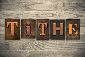 stock photo of tithe  - The word  - JPG