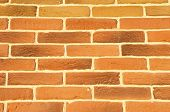picture of tile cladding  - Brown cladding tiles imitating bricks in sunny day - JPG