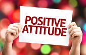 stock photo of feeling better  - Positive Attitude card with colorful background with defocused lights - JPG