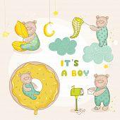 stock photo of baby bear  - Baby Bear Set  - JPG