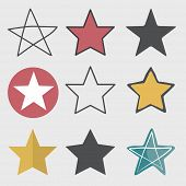 pic of reach the stars  - Star Shape Success Superstar Victory Winning Vector Concept - JPG
