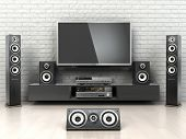 stock photo of home theater  - Home cinemar system - JPG