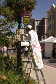 Painter Mannequin in downtown Park City poster
