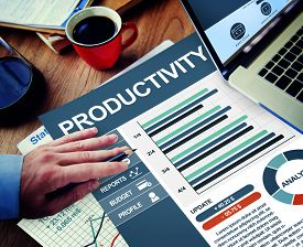 foto of productivity  - Productivity Businessman Working Calculating Thinking Planning Paperwork Concept - JPG