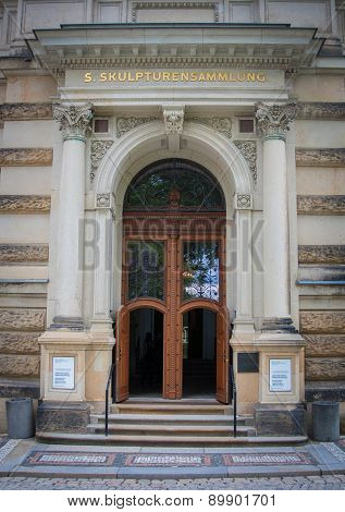 Door, Nymphenbad, Zwinger Palace, Dresden