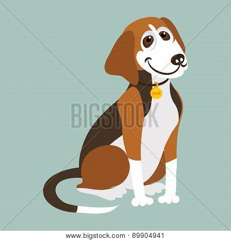 Yugoslavian tricolor hound. Vector illustration