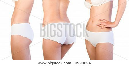 Beautiful female body isolated on white