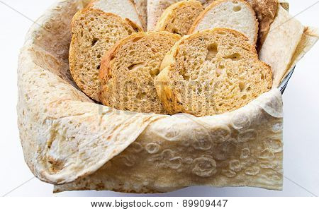 Assortment Of Bread In Basket, Horizontal