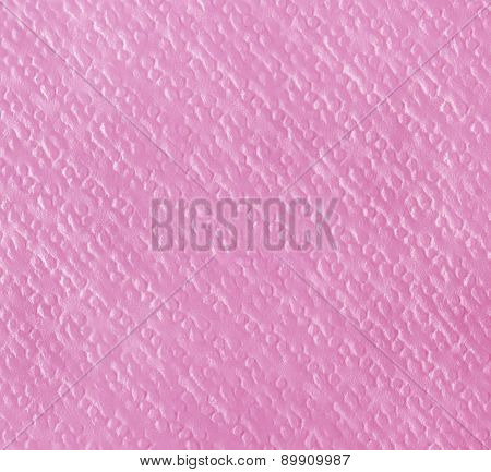 Pink Paper Napkin, Texture Background.