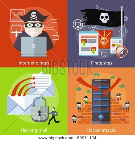 Hacker attaks, Internet Pirates and Pirate Sites