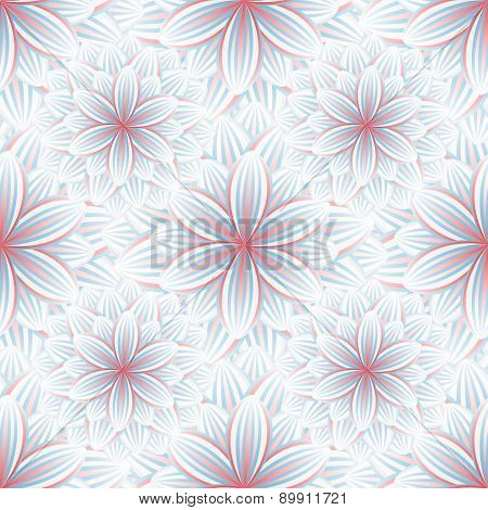 Seamless Pattern With Flower Chrysanthemum