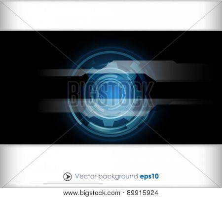 Black and blue vector abstract engineering technology background
