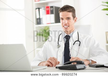 Portrait Of A Handsome Doctor